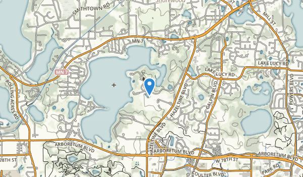 trail locations for Lake Minnewashta Regional Park