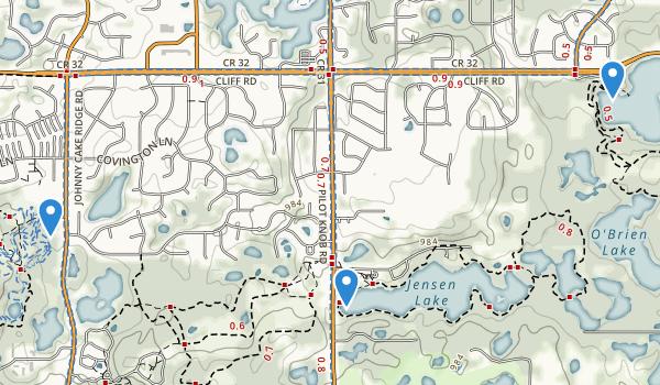 trail locations for Lebanon Hills Regional Park