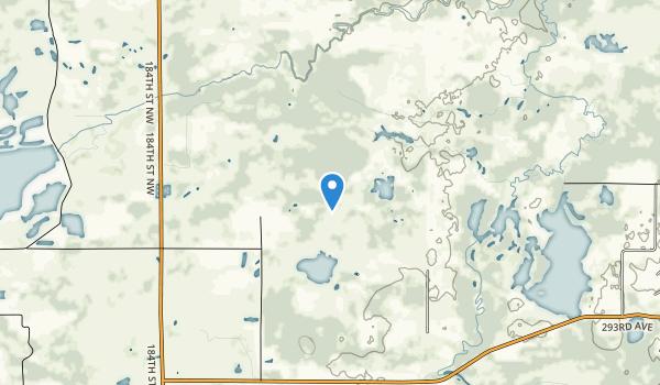 trail locations for Sherburne National Wildlife Refuge