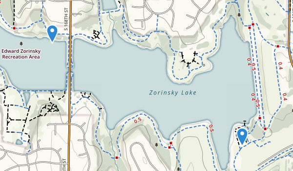 Ed Zorinsky Recreation Area Map