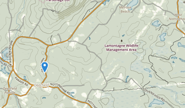 trail locations for Lamontagne Wildlife Management Area