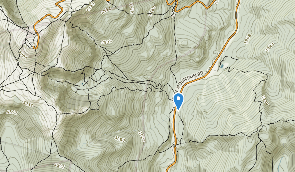trail locations for Pinkham Notch Scenic Area