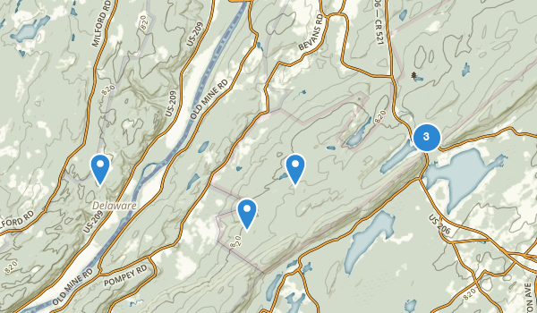 trail locations for Flatbrook Fish and Wildlife Management Area
