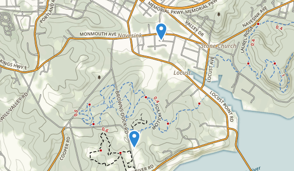 trail locations for Huber Woods County Park