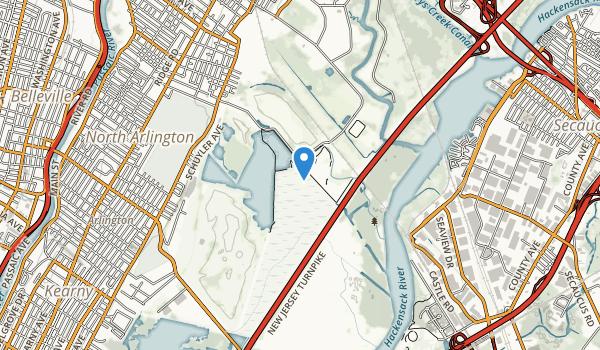 trail locations for Richard W De Korte Park
