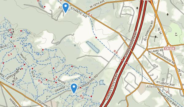 trail locations for Robert L Brice Memorial Park