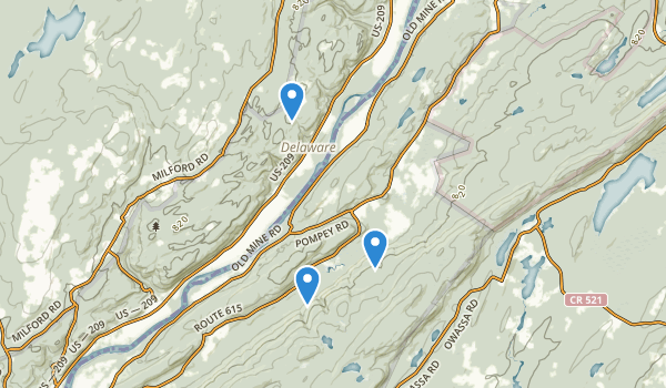 trail locations for Walpack Fish and Wildlife Management Area