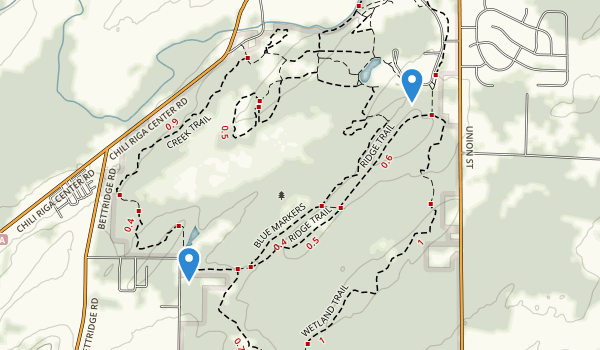 trail locations for Black Creek Park