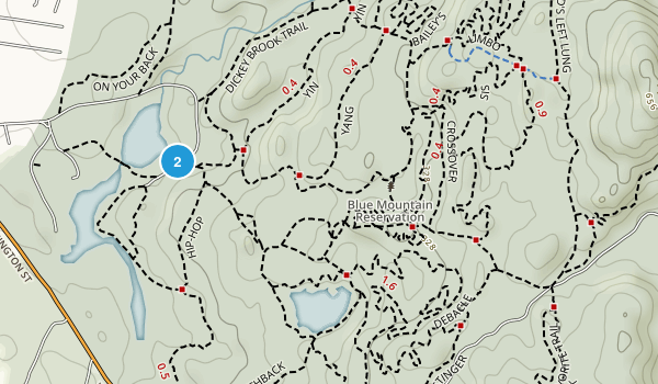 Blue Mountain Reservation Map
