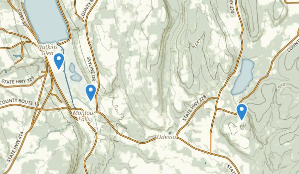 Catharine Creek Wildlife Management Area Map