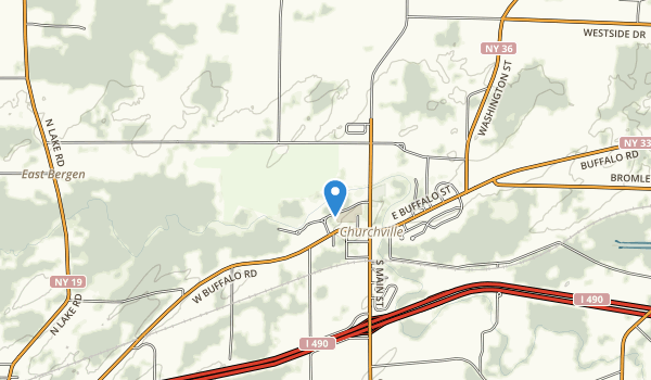 trail locations for Churchville Park
