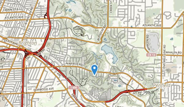trail locations for Ellison Park