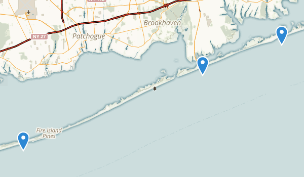 trail locations for Fire Island National Seashore