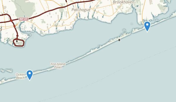 Fire Island National Seashore Map