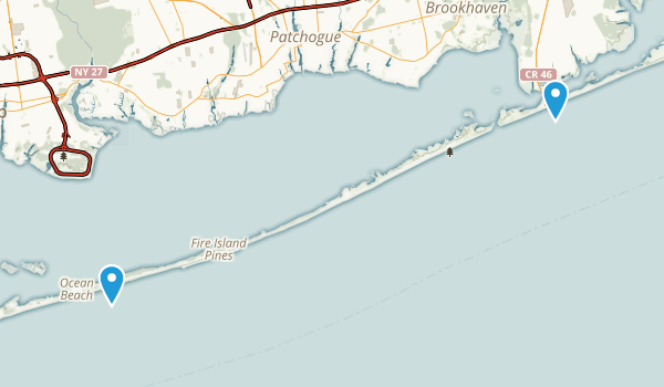 Fire Island National Seashore Map