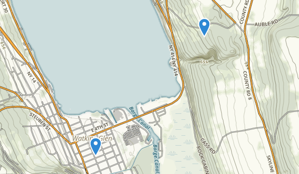 trail locations for Lakeside Park