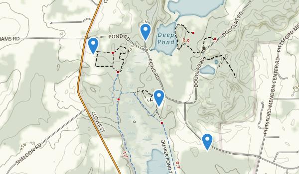 trail locations for Mendon Ponds Park
