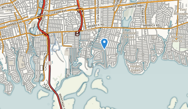 trail locations for Seamans Neck Park