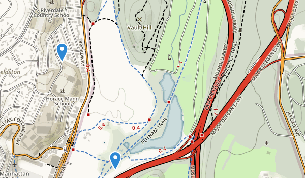 trail locations for Van Cortlandt Park