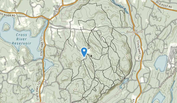 trail locations for Ward Pound Ridge Reservation