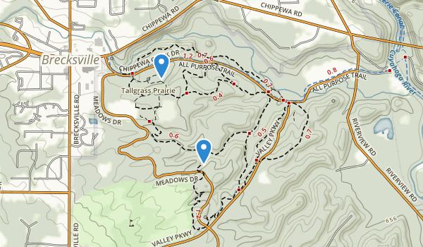 Brecksville Reservation Map