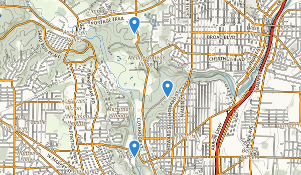 trail locations for Cascade Valley Park