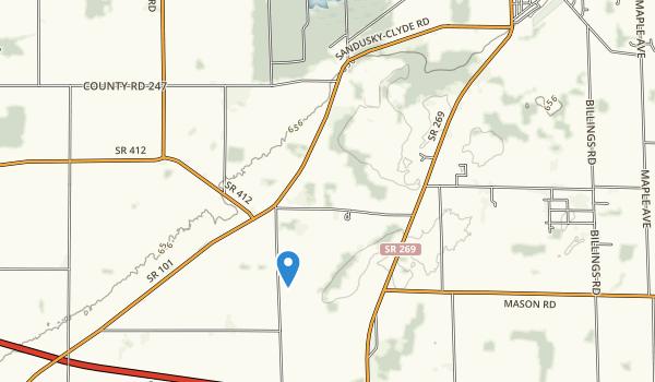 trail locations for Castalia Quarry Reserve