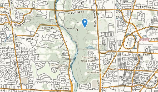 trail locations for High Banks Metropolitan Park