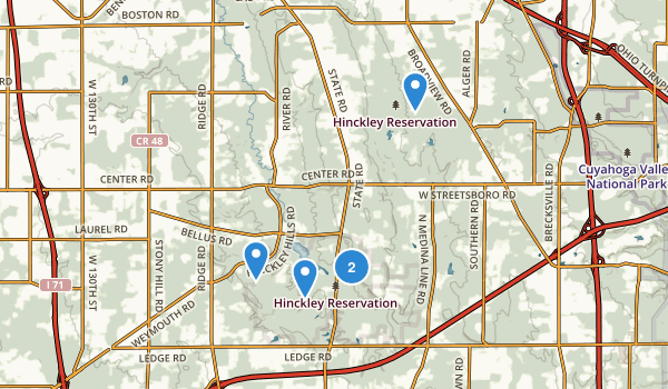 Hinckley Reservation Map