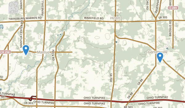 trail locations for Marsh Wetlands State Nature Preserve