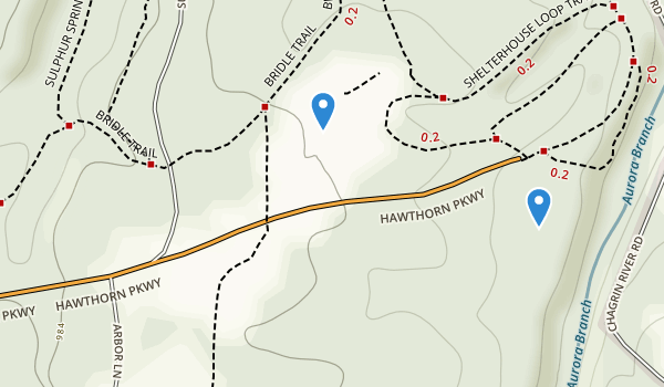 trail locations for South Chagrin Reservation