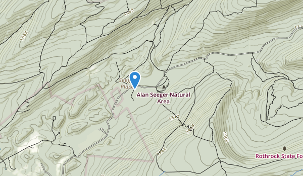 trail locations for Alan Seeger Natural Area