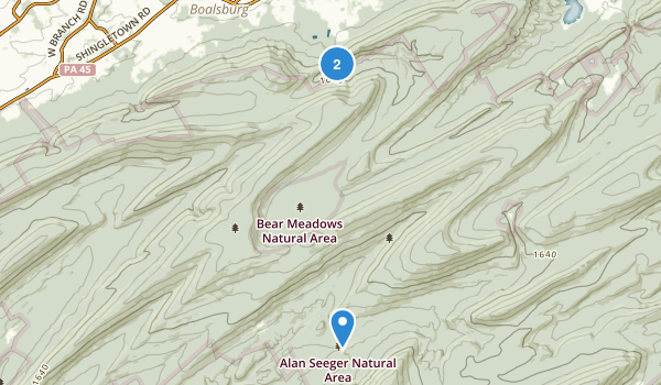 Bear Meadows Natural Area Map
