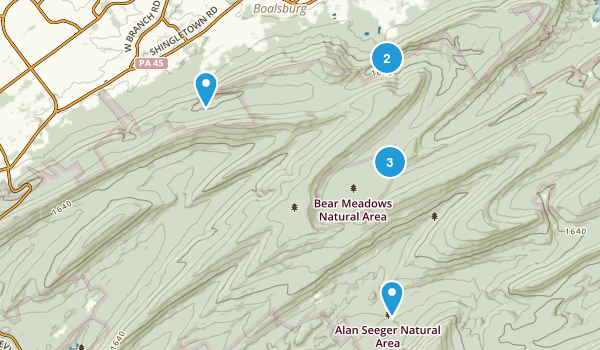 Bear Meadows Natural Area Map