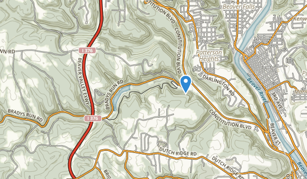 trail locations for Brady Run Park