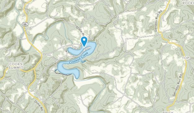 Crooked Creek Lake Recreation Area Map
