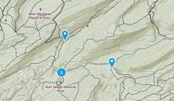 Detweiler Run Natural Area Map