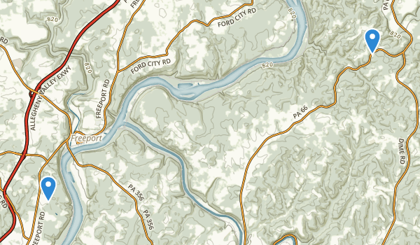 trail locations for Harrison Hills County Park
