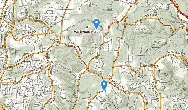 Hartwood Acres Park Map