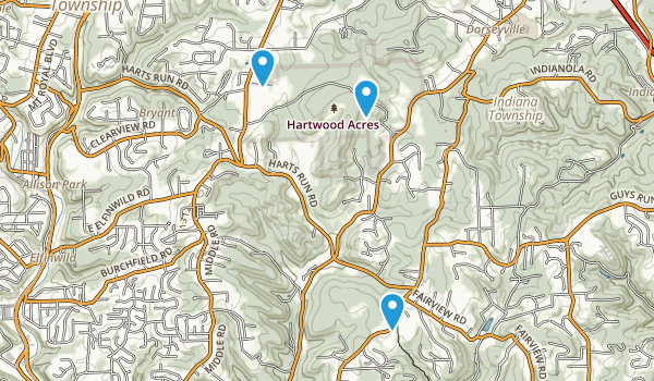 Hartwood Acres Park Map