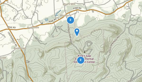 Kings Gap State Park Map