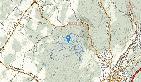 trail locations for Merli-Sarnoski County Park