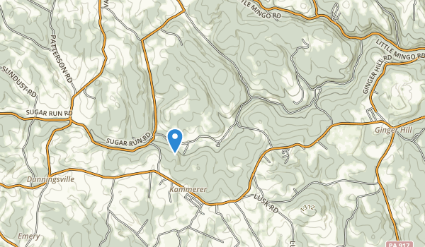 trail locations for Mingo Creek County Park