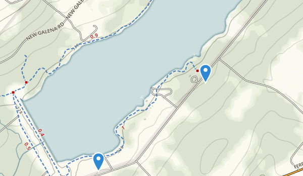 trail locations for Peace Valley Park