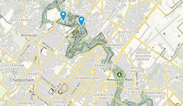 Pennypack Park Map