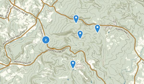 Roaring Run Natural Area Map