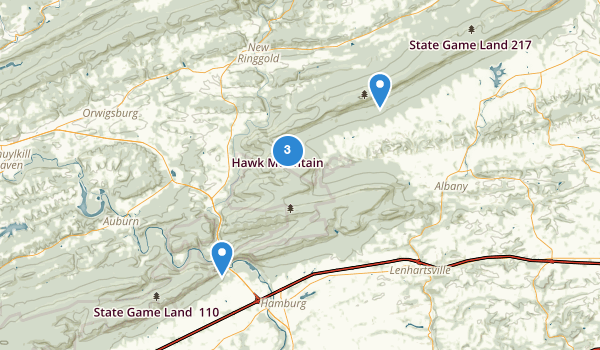 trail locations for State Game Lands Number 106