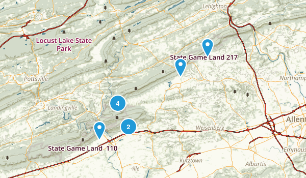 State Game Lands Number 106 Map
