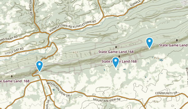 State Game Lands Number 168 Map