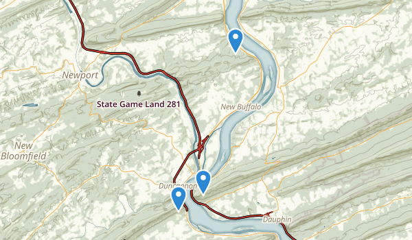trail locations for State Game Lands Number 290